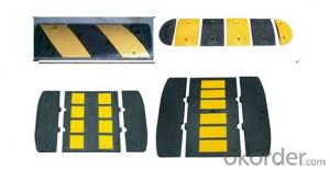 Plastic speed hump for road and highway