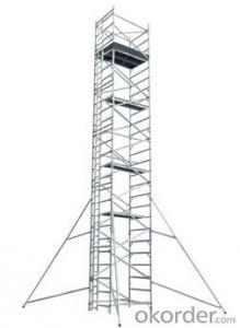 Double width aluminum scaffolding