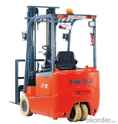 G Series 1-2T Three Wheel AC Electric Forklift Trucks