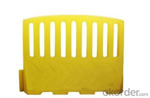 Plastic Warning barrier yellow red blowing plastic barrier
