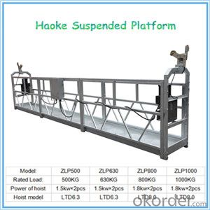 Aluminium Alloy Suspended Access Equipment ZLP800 Rated Load 800 kg