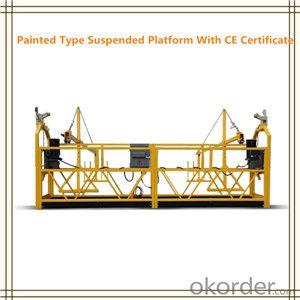 Temporary Suspended Platform Cradle with Plastic Spray Painted