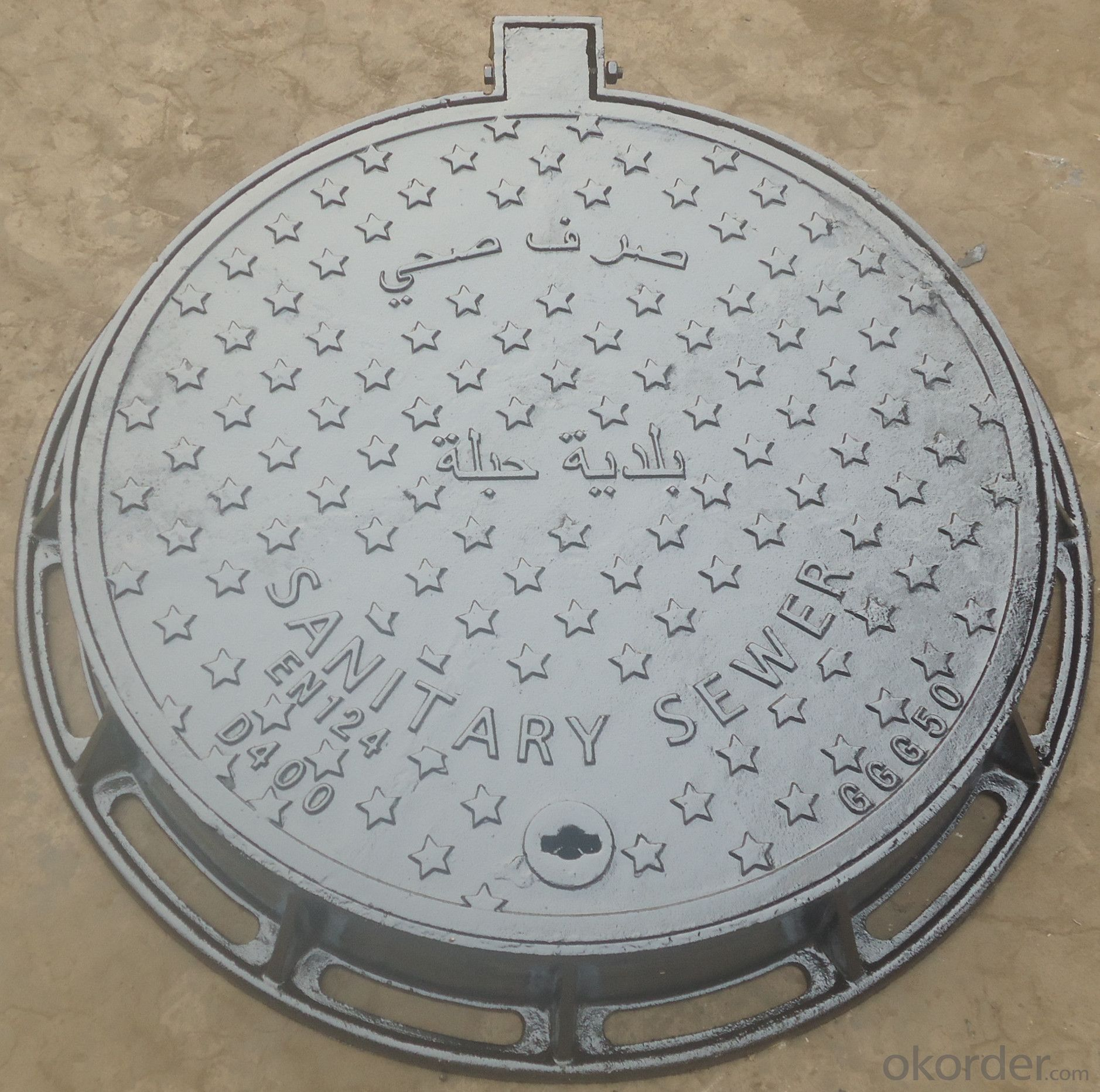 Circular 600 cast iron manhole covers