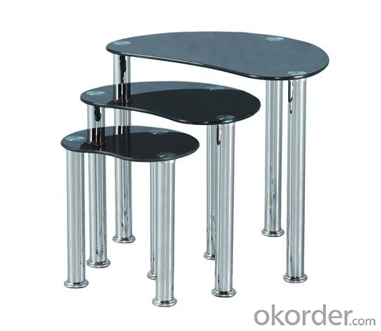 tempered glass nesting table