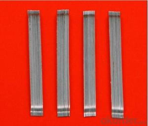 Glued Hooked End Steel Fiber with High Tensile Strength