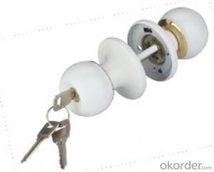 Round Knob Door Lock 607 BL