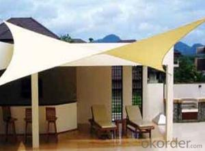 Beige and Desert Sand Color Shade Sail
