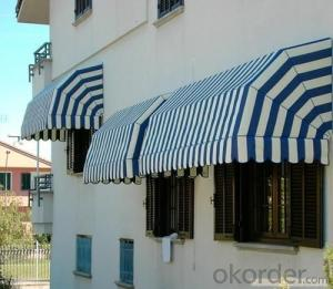 Colored Sunshade Awnings