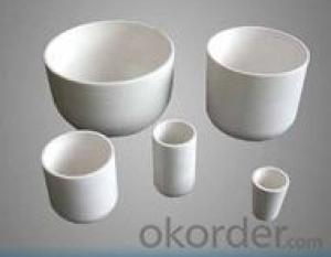 High Temperature Refractory Cylindrical Alumina Smelting Crucible