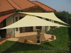 Beige Sun Shade Sail with Virgin Materials