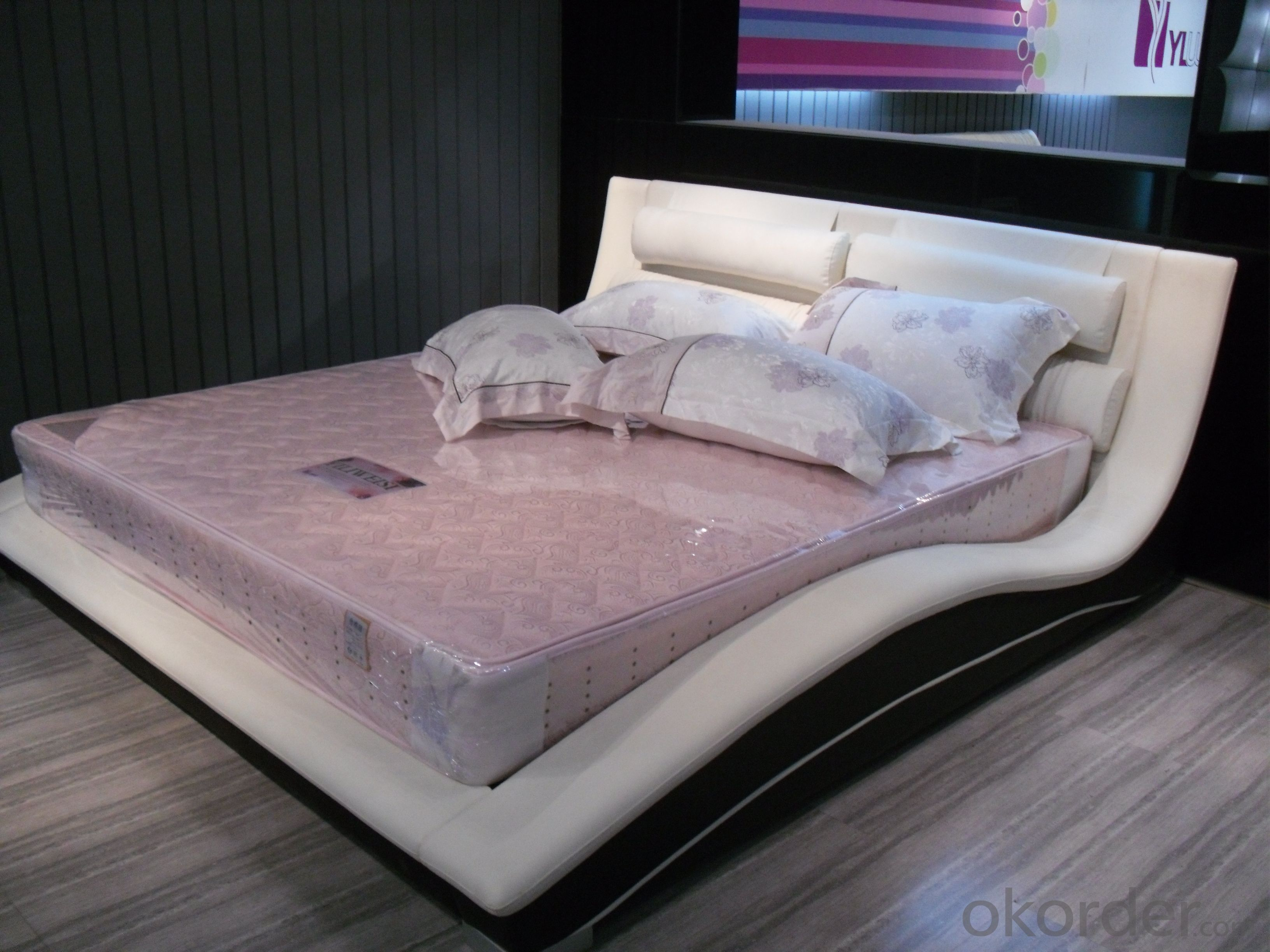 High Quality Modern Leather Bed  CN3