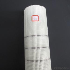 reinforced yellow fiberglass mesh