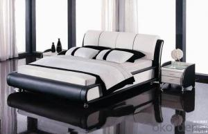 High Quality Modern Leather Bed  CN1