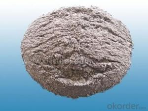 High alumina refractory mortars