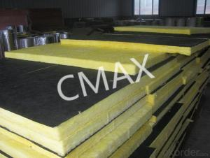 Glass Wool Board faced with black Tissue