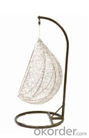 outdoor swing with indonesia natrual rattan