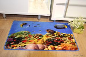 Sea Star Pattern Nylon Printed Carpet With Latex Back