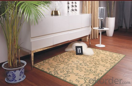Hot Sale Round and Rectangle Shape Bamboo Carpet
