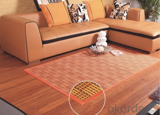 Eco-friendly Bamboo Carpet with Rectangle Shape