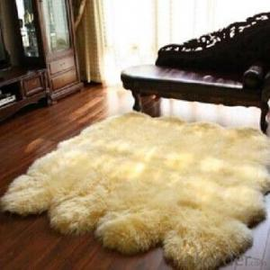 Quarto Size Sheepskin Rug with Customed Colors