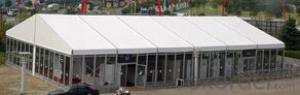 Aluminum structure marquee tent with glass door
