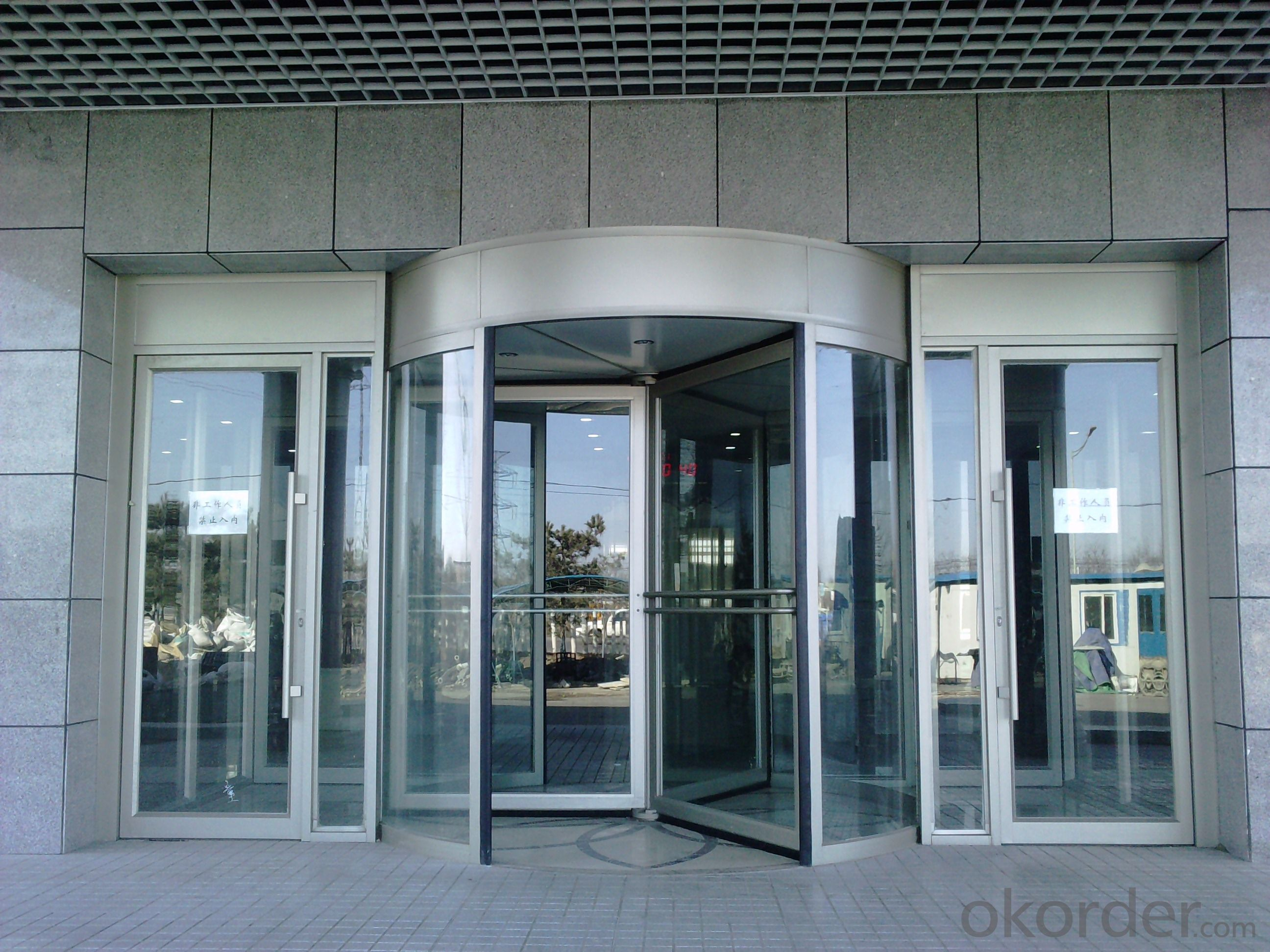 Aluminium frame automatic door for hotel