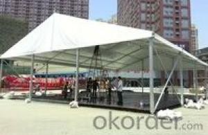 Steel floor exhibition event tent without sidewalls fabric