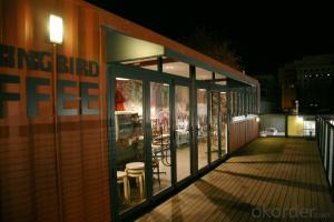 Container house for coffee shop
