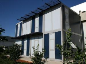 Low cost container house for building