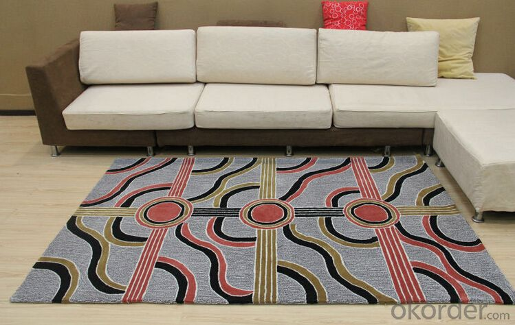 Modern Design Acrylic Hand Tufted Floor Rugs and Carpets