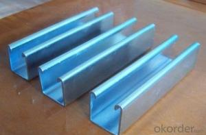 Galvanized strut H channel