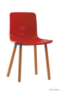 New leisure dining chair with wooden leg