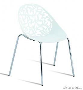 hot sale designed metal frame plastic stackable dinging chairs