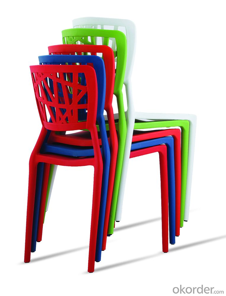 Plastic waiting chair stackable chair with modern design