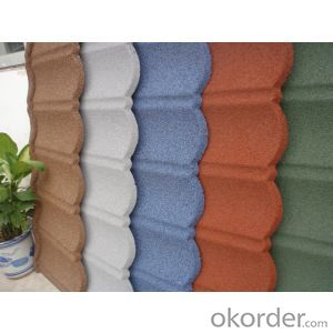 Classic Colorful Stone Coated Metal Roof Tile Shingles