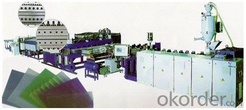 plastic pe pp grid plates production extrusion line