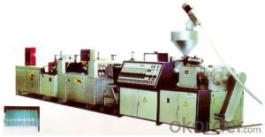 Extruding Wavy Plastic Plates Production Line