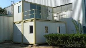 2016 New Prefab Two Story Container House with Balcony