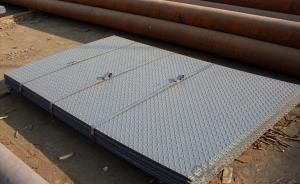 Hot rolled checkered steel