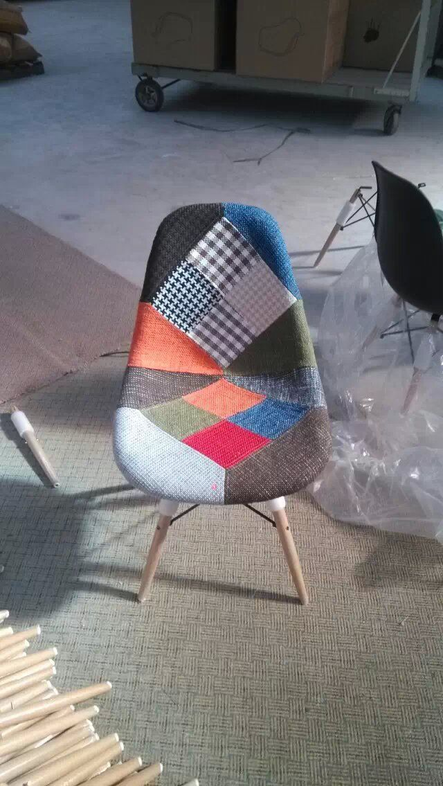 Leisure Chairs by Colorful Splicing Cloth
