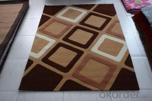 Polyester Hand Tufted Rug Grey-White Backing