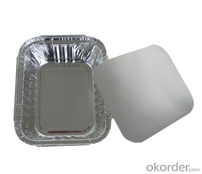 Disposable aluminum foil container