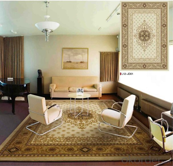 PP Woven Jacquard Rugs , Area Carpet and Rugs