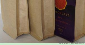 Printed Kraft Paper Box Pouch For Coffee Packing