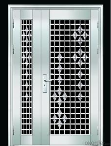 HL-084 High quality single leaf entry steel security door