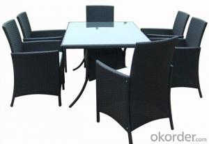 Outdoor Rattan Dinner Table and Chairs