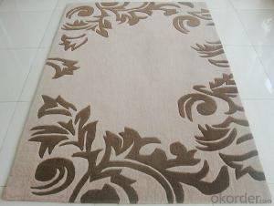Acrylic Hand Made wool/acrylic tufted carpet/hand tufted floral carpets for home decorationCarpet