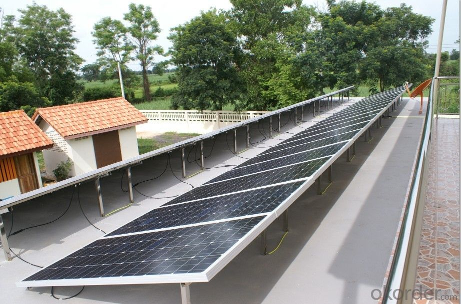 Photovoltaic complete systems such as PV panels, storage batteries, converters etc.