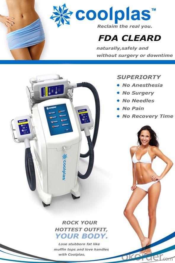 Coolplas cryolipolysis fat freezen body slimming machine price good