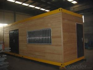 Wooden Clading Prefabricated Container House